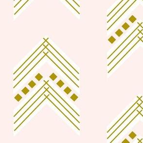 pale pink gold chevron
