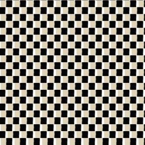 Cappuccino Cream (TAN), Black and White Boho Checkerboard