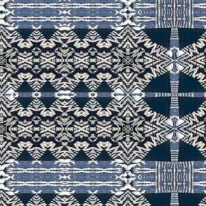 Blue white ivory blanket