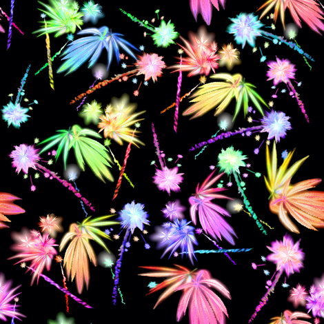 420 Leaf Fireworks fabric by camomoto on Spoonflower - custom fabric