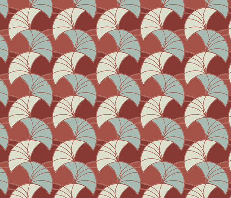 lilium vintage red fabric by inkyfox on Spoonflower - custom fabric