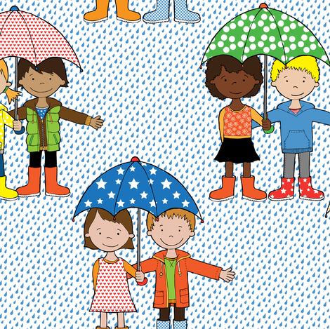 is_it_still_raining_best_repeat-04-04 fabric by doris&fred on Spoonflower - custom fabric