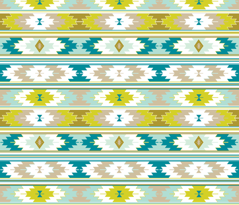 citron kilim fabric by ivieclothco on Spoonflower - custom fabric