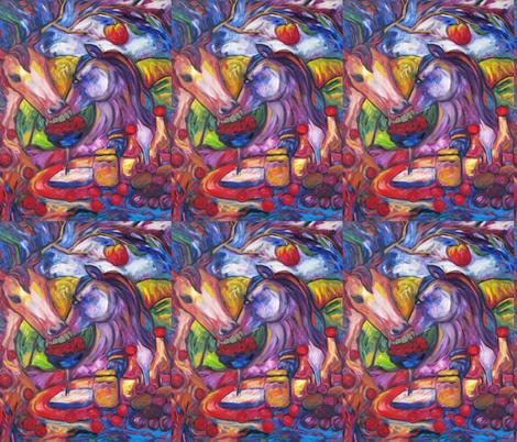 Cherry Picking Horses fabric by diconnollyart on Spoonflower - custom fabric