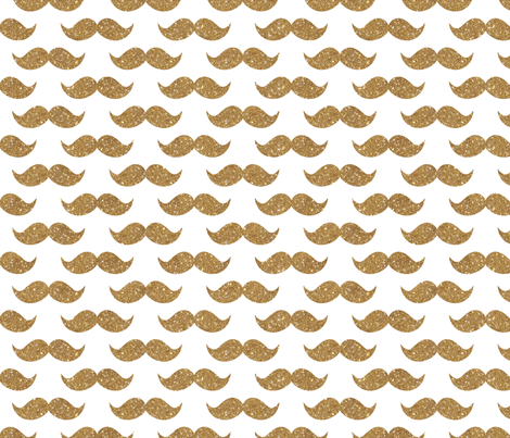 Sparkle Staches Gold fabric by cynthiafrenette on Spoonflower - custom fabric