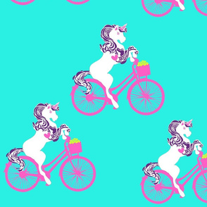 Unicorn Riding a Bike