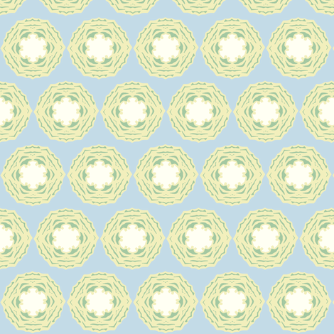 cabbageroseyellow3 fabric by especiallycreativebroad on Spoonflower - custom fabric