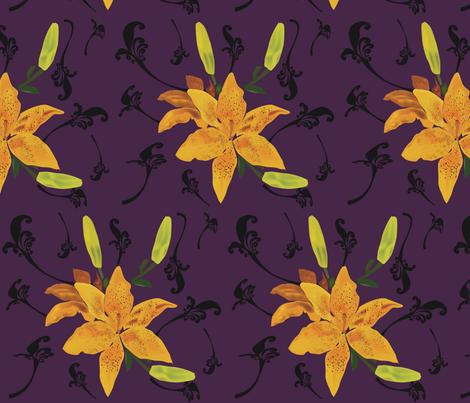 Royal-Lilies fabric by mjenigma71 on Spoonflower - custom fabric