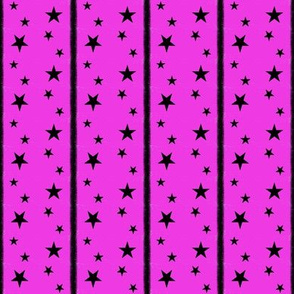 Stars and Stripes Hot Pink and Black