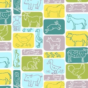 Farm Animal Rectangles