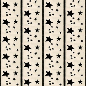 Stars and Stripes Cappuccino Cream and Black