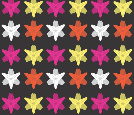 lilies fabric by gray___ on Spoonflower - custom fabric