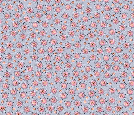 Alien floral periwinkle fabric jennifergeldard spoonflower for Alien print fabric