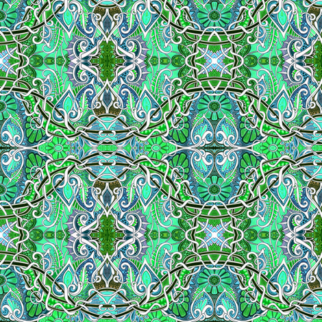 At the Sine of the Spade Vine fabric by edsel2084 on Spoonflower - custom fabric