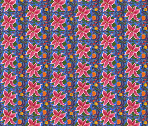Mexican_Lily_s fabric by paul_bennett on Spoonflower - custom fabric