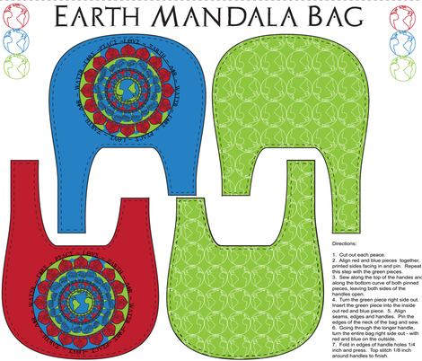 earthdaymandala fabric by lerhyan on Spoonflower - custom fabric