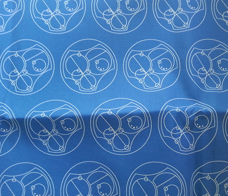 I love you in Gallifreyan - Blue on White - small