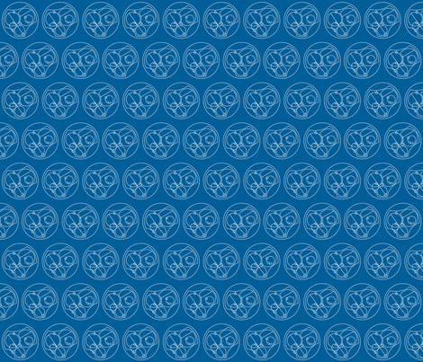 I love you in Gallifreyan - Blue on White - small fabric by designedbygeeks on Spoonflower - custom fabric