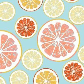 Grapefruit love - blue