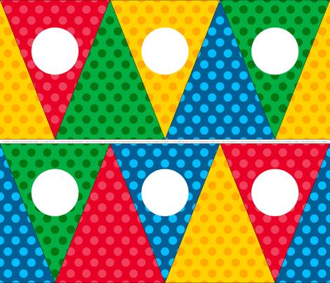 Geeky Comic Bunting Banner fabric by designedbygeeks on Spoonflower - custom fabric