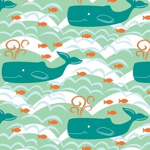 Whales and Waves (Seaside)