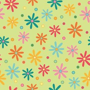 Colorful Daisies (April)