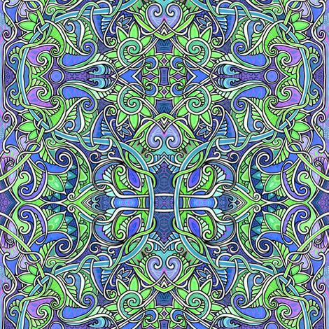 In the Paisley garden fabric by edsel2084 on Spoonflower - custom fabric