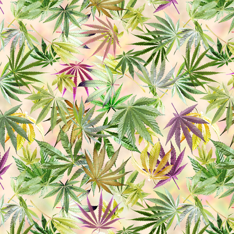 Bright Cannabis Leaves fabric by camomoto on Spoonflower - custom fabric