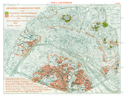 Plan of Paris 1908; public domain