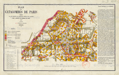 Plan of the Paris Catacombes 1857