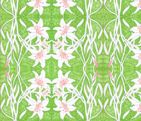 Lily Entwined fabric by marina_movshina on Spoonflower - custom fabric