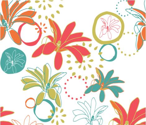 LilliesTakeHawaii fabric by jessday on Spoonflower - custom fabric