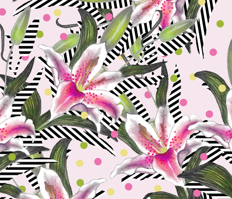 happy_go_lily fabric by nat_olly on Spoonflower - custom fabric