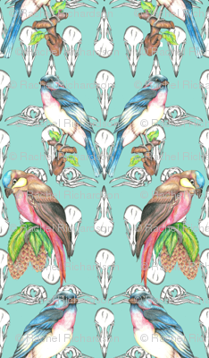 Rrepeat_off_set_skulls_with_birds_green_background_preview