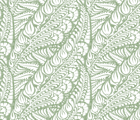 Blooming Soft Moss fabric by spellstone on Spoonflower - custom fabric
