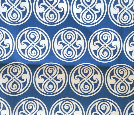 Seal of Rassilon - White on Blue - large