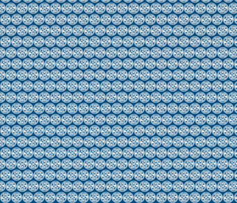 Seal of Rassilon - White on Blue - small fabric by designedbygeeks on Spoonflower - custom fabric