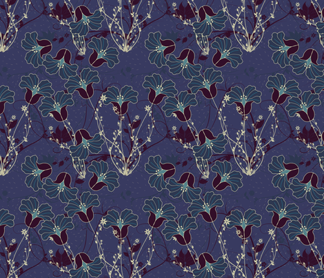 twilight_lillies fabric by suziwollman on Spoonflower - custom fabric