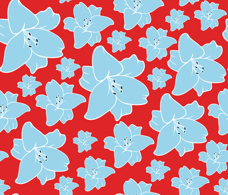 Lilies fabric by lydesign on Spoonflower - custom fabric