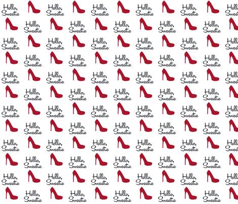 Hello Sweetie fabric by designedbygeeks on Spoonflower - custom fabric