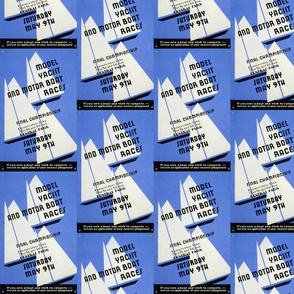 Model Boat Race Poster