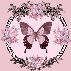 Boudoir Butterfly Pillow Blush Pink-