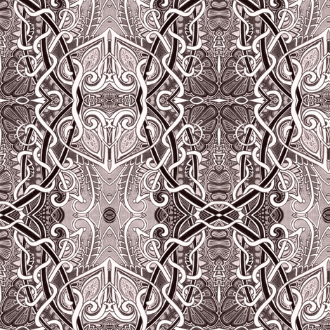 Brown Heart Quadrille fabric by edsel2084 on Spoonflower - custom fabric