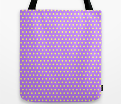 Yellow Easter Dot  on Purple