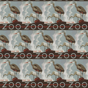 Visit the zoo crane poster
