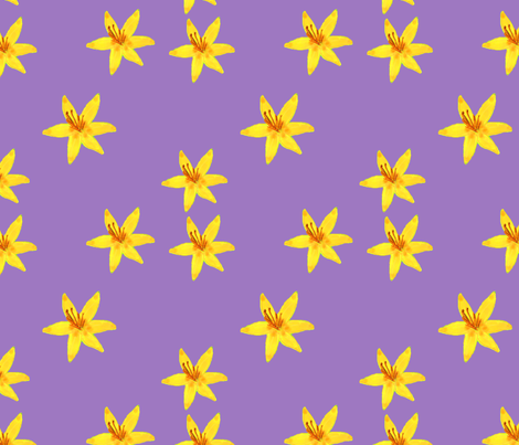 Scattered Lilies (Purple) fabric by thexerox123 on Spoonflower - custom fabric