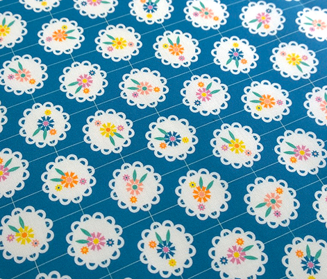 Wedgewood (Blue) || flowers flower floral doily doilies vintage shabby chic garden lattice polka dots nature leaves garden
