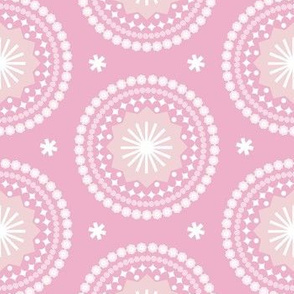 Bandana* (Pink Cow) || scarf handkerchief stars starburst circles flowers fireworks geometric western mandala pastel