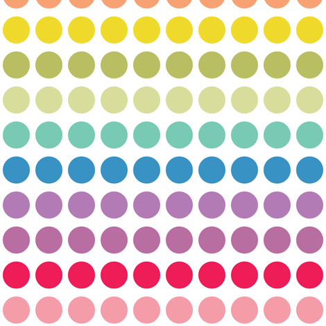 rainbowdots-03 fabric by doris&fred on Spoonflower - custom fabric
