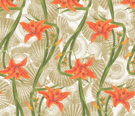 Tiger Lily fabric by cosecreative on Spoonflower - custom fabric